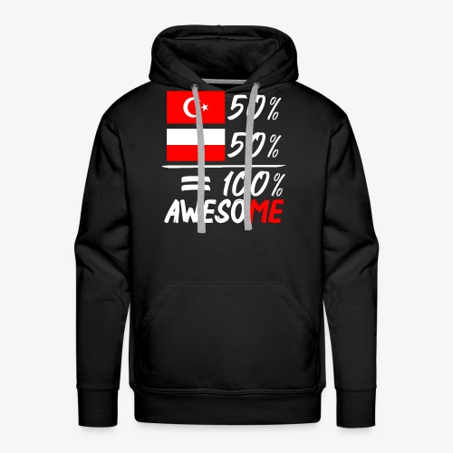 Männer Premium Hoodie 50% Polnisch 50% Türkisch - Männer Premium Hoodie