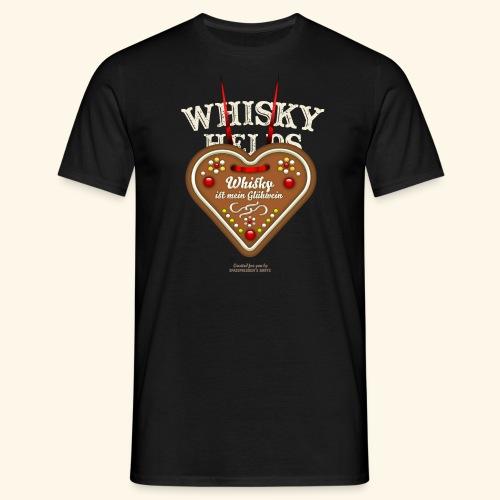 Whisky T Shirt Glühwein & Lebkuchenherz - Männer T-Shirt