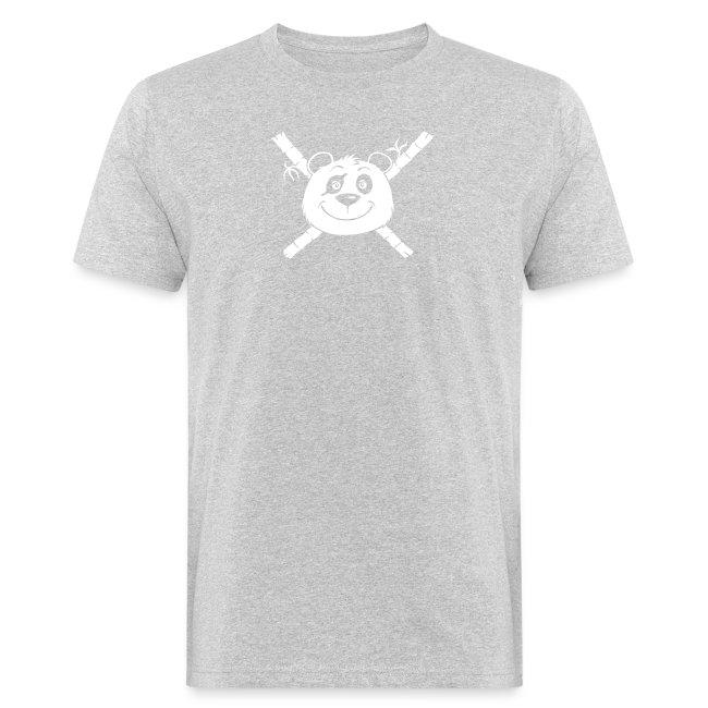 Panda Pirat - Männer Bio-T-Shirt
