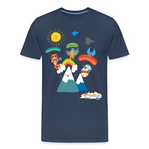 Men Bio FlyTandem Comic Shirt - Männer Premium T-Shirt