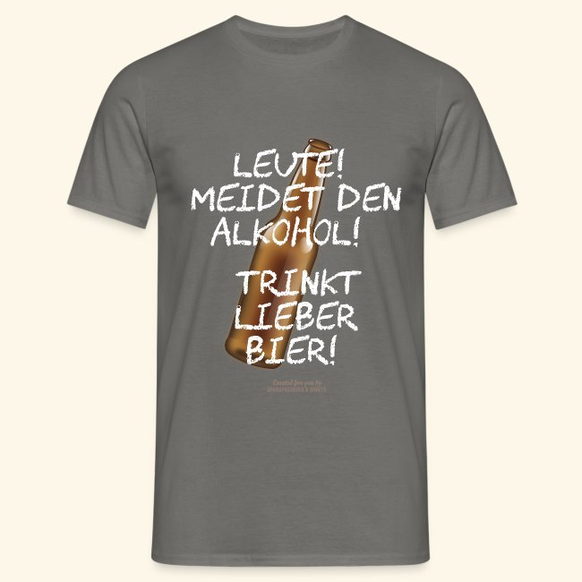 Bier T Shirt mit witzigem Spruch über Alkohol