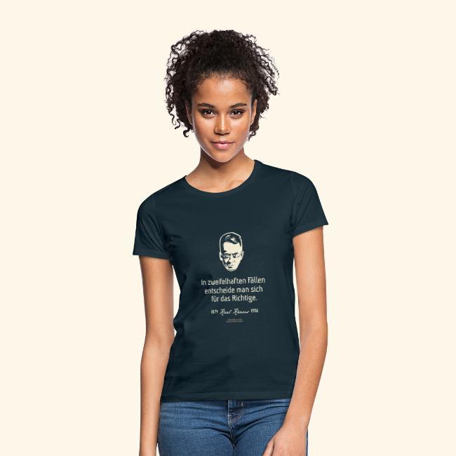 Zitat T Shirt Karl Kraus