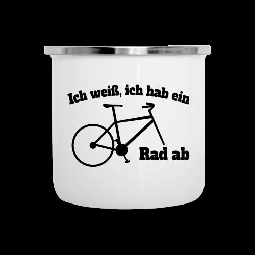 Rad ab Radfahrer Fahrrad Spruch Emaille Tasse - Emaille-Tasse