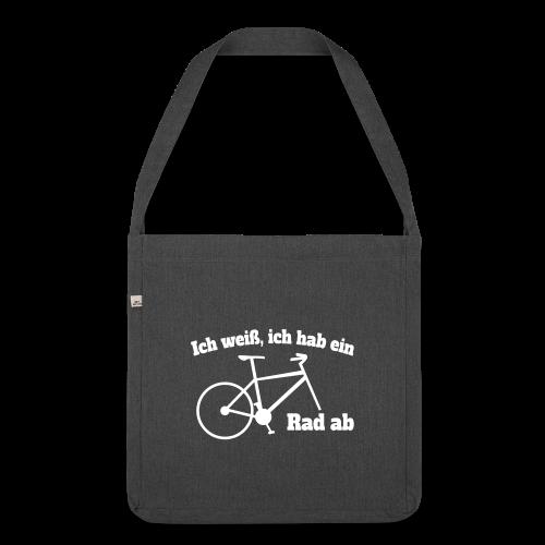 Rad ab Radfahrer Fahrrad Spruch Tasche - Schultertasche aus Recycling-Material