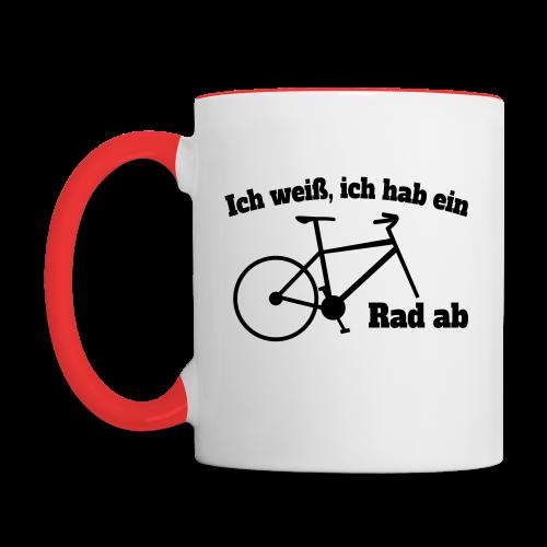 Rad ab Radfahrer Fahrrad Spruch Tasse - Tasse zweifarbig