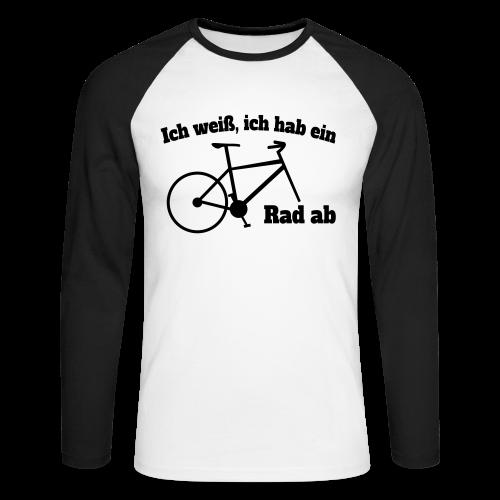 Rad ab Radfahrer Fahrrad Spruch Baseball Langarm Shirt - Männer Baseballshirt langarm