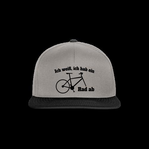 Rad ab Radfahrer Fahrrad Spruch Kappe - Snapback Cap