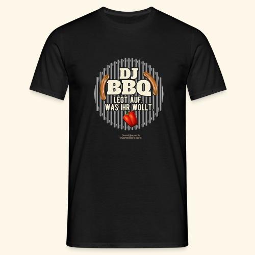 Lustiges Grill T Shirt Spruch DJ BBQ  - Männer T-Shirt