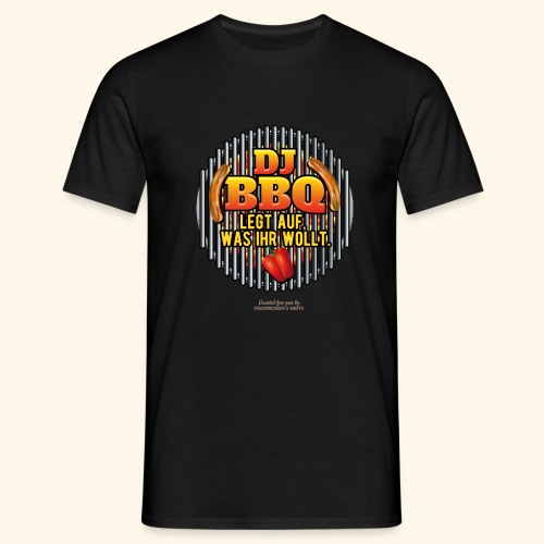 Grill T Shirt DJ BBQ - Männer T-Shirt