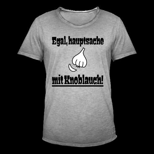 Lustiger Knoblauch Kochen Essen Spruch Vintage Shirt - Männer Vintage T-Shirt