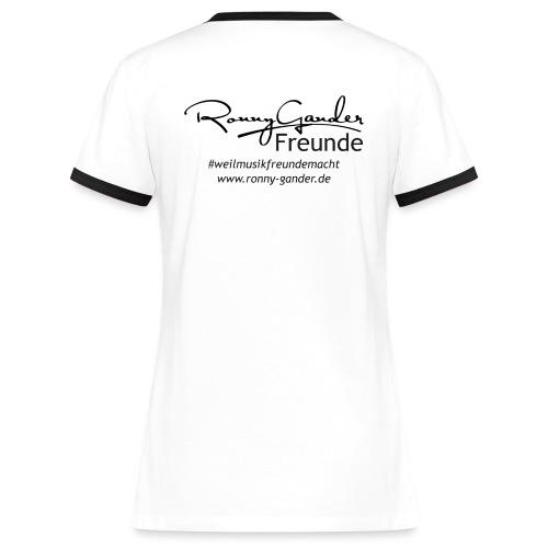 T-Shirt für Frauen - Frauen Kontrast-T-Shirt