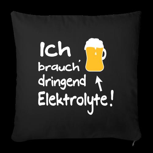 Elektrolyte Bier Sport Biertrinker Spruch Kissenhülle - Sofakissenbezug 44 x 44 cm