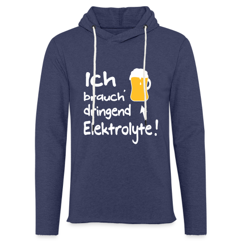 Elektrolyte Bier Sport Biertrinker Spruch Hoodie - Leichtes Kapuzensweatshirt Unisex