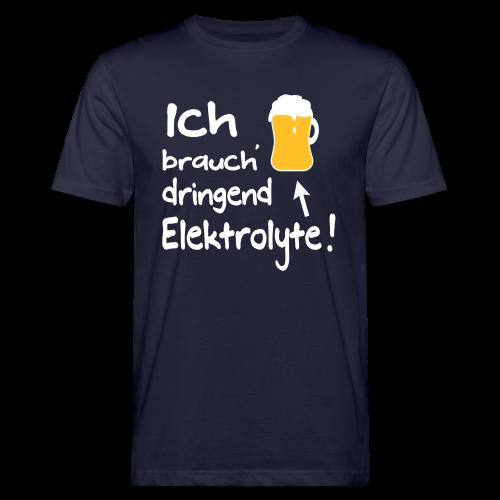Elektrolyte Bier Sport Biertrinker Spruch Bio t-Shirt - Männer Bio-T-Shirt