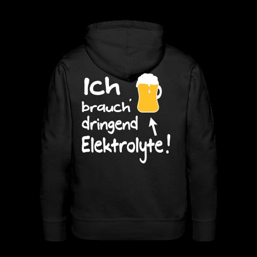Elektrolyte Bier Sport Biertrinker Spruch Hoodie - Männer Premium Hoodie