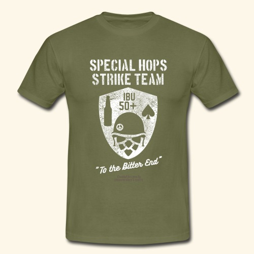 Craft Beer Fan T Shirt Special Hops Strike Team - Männer T-Shirt