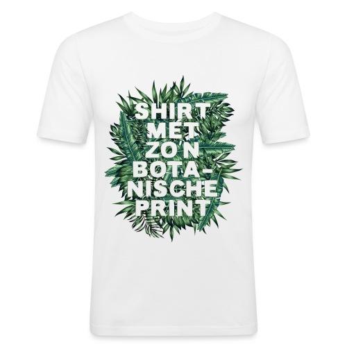 Botanisch mannen slimfit - slim fit T-shirt