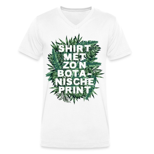 Botanisch mannen v-hals bio - Mannen bio T-shirt met V-hals van Stanley & Stella