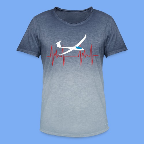 glider pilot ugly christmas Discus 2b - Men's T-Shirt with colour gradients
