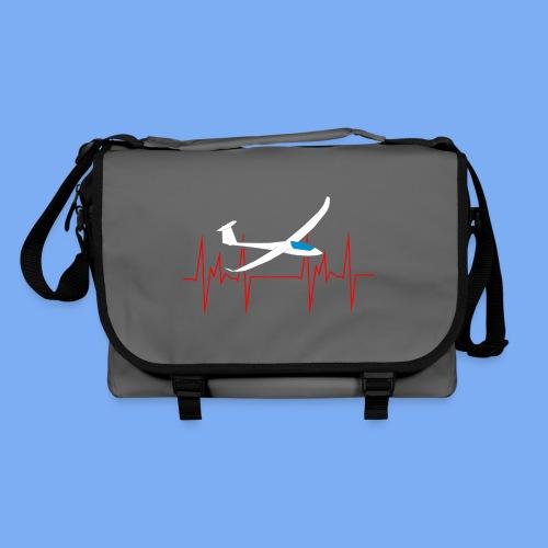 glider pilot heartbeat Segelflieger Geschenk Segelflugzeug  Discus 2b - Shoulder Bag