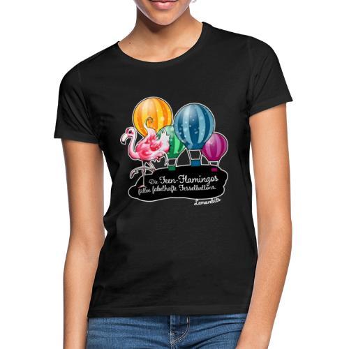 Feen-Flamingo-Shirt schwarz (Damen) - Frauen T-Shirt