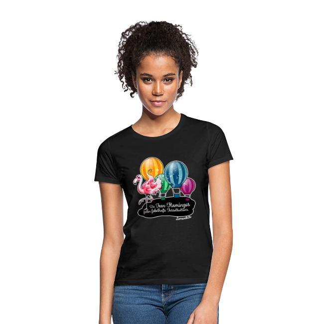Feen-Flamingo-Shirt schwarz (Damen)