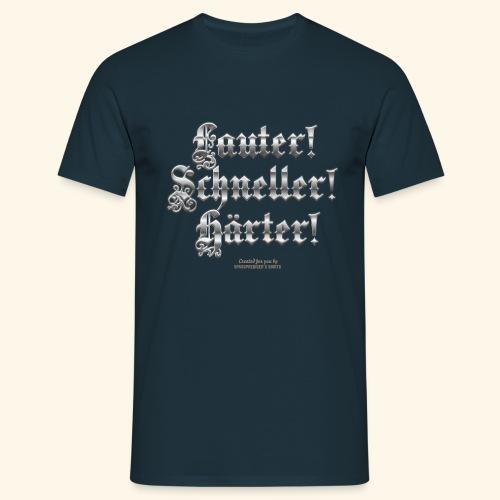 Heavy Metal Fan T Shirt Lauter, schneller, härter - Männer T-Shirt