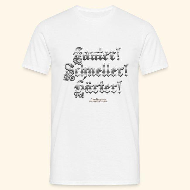 Heavy Metal Fan T Shirt Lauter, schneller, härter