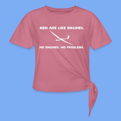 Knoten T-Shirt Segelflieger Segelflugzeug gliding Geschenk - Knotted T-Shirt