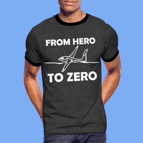 König der Außenlandung - Segelflieger T-Shirt - Männer Kontrast-T-Shirt