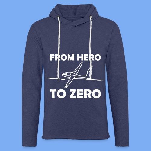 König der Außenlandung - Segelflieger T-Shirt - Leichtes Kapuzensweatshirt Unisex