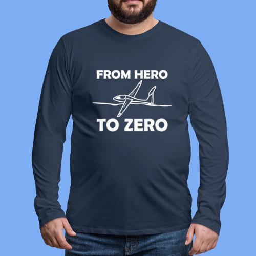 König der Außenlandung - Segelflieger T-Shirt - Männer Premium Langarmshirt