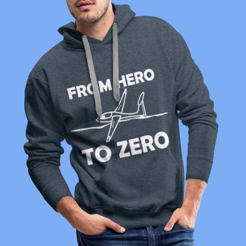 König der Außenlandung - Segelflieger T-Shirt - Männer Premium Hoodie