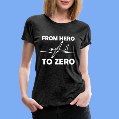König der Außenlandung - Segelflieger T-Shirt - Women's Premium T-Shirt