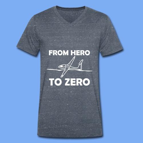 König der Außenlandung - Segelflieger T-Shirt - Männer Bio-T-Shirt mit V-Ausschnitt von Stanley & Stella