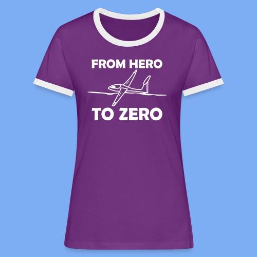 König der Außenlandung - Segelflieger T-Shirt - Women's Ringer T-Shirt