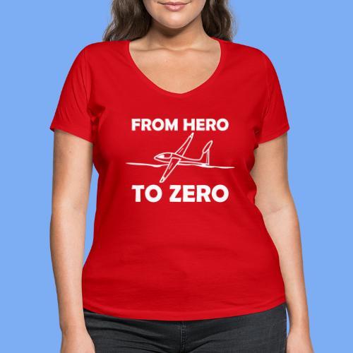 König der Außenlandung - Segelflieger T-Shirt - Women's Organic V-Neck T-Shirt by Stanley & Stella