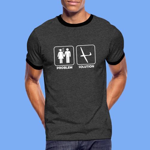 Problem Solution Geschenk - Segelflieger Spruch - Men's Ringer Shirt