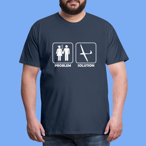 Problem Solution Geschenk - Segelflieger Spruch - Men's Premium T-Shirt