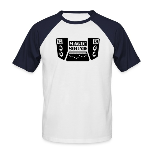 Magic Sound - Männer Baseball-T-Shirt