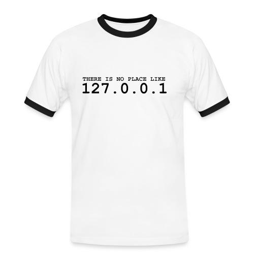 127.0.0.1-Shirt - Männer Kontrast-T-Shirt
