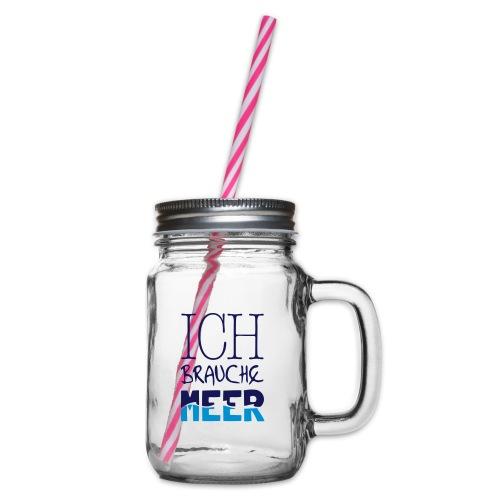 Henkelglas - Henkelglas mit Schraubdeckel