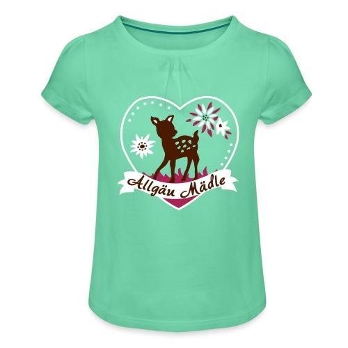 Allgäu Mädle - Mädchen-T-Shirt mit Raffungen