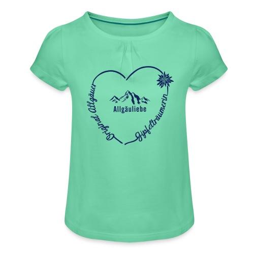 Gipfelträumerin - Mädchen-T-Shirt mit Raffungen