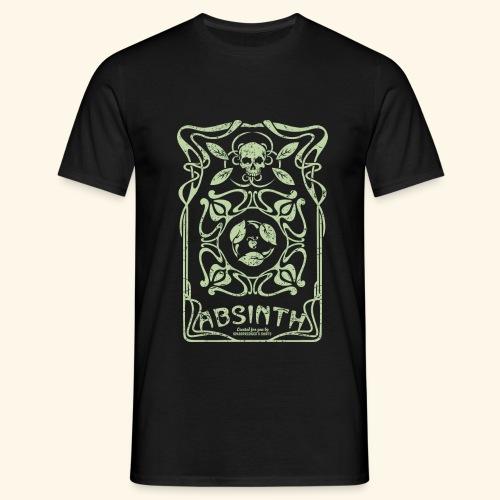 Absinth T Shirt Art Deco - Männer T-Shirt