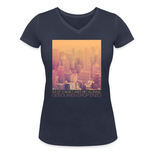 Gebouwen enzo vrouwen t-shirt v-hals bio - Vrouwen bio T-shirt met V-hals van Stanley & Stella