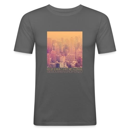 Gebouwen enzo mannen slimfit - slim fit T-shirt