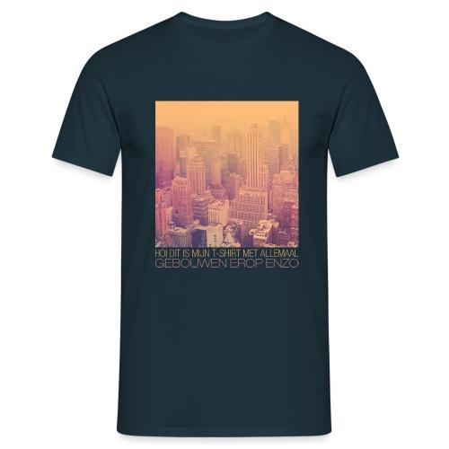 Gebouwen enzo mannen t-shirt - Mannen T-shirt