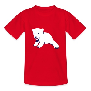 Polar-Bär-Motiv auf Kinder-T-Shirt - Teenager T-Shirt