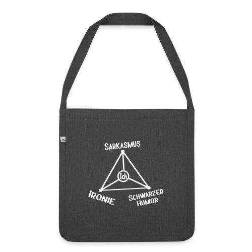 Ironie Sarkasmus Schwarzer Humor Nerd Dreieck Schultertasche - Schultertasche aus Recycling-Material